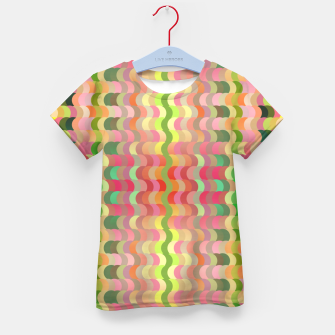 Miniaturka Abstract retro waves print in pastel colors Kid's t-shirt, Live Heroes
