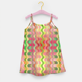 Miniaturka Abstract retro waves print in pastel colors Girl's dress, Live Heroes