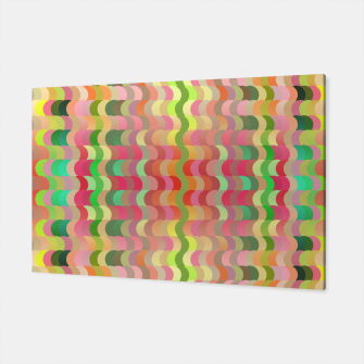 Miniaturka Abstract retro waves print in pastel colors Canvas, Live Heroes