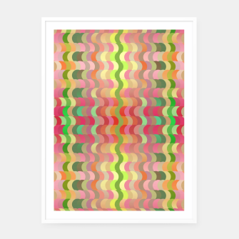 Miniaturka Abstract retro waves print in pastel colors Framed poster, Live Heroes