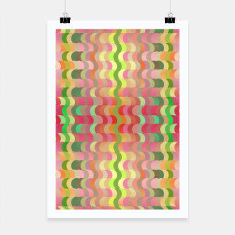 Miniaturka Abstract retro waves print in pastel colors Poster, Live Heroes