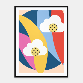 Thumbnail image of Sahara Street Love Clouds Framed poster, Live Heroes