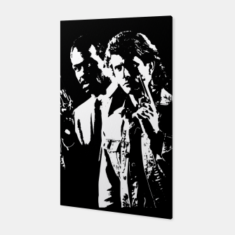 Miniatur Lethal Weapon Quote Canvas, Live Heroes
