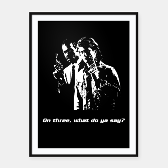 Miniatur Lethal Weapon Quote Framed poster, Live Heroes