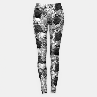 Thumbnail image of Carnation B&W Leggings, Live Heroes