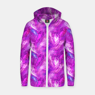 Thumbnail image of Mad Flares in Mauve Zip up hoodie, Live Heroes