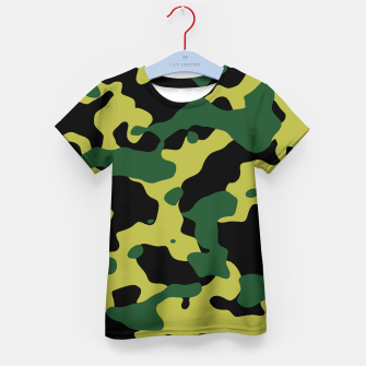 Thumbnail image of Camouflage Vert Enfantin t-shirt, Live Heroes