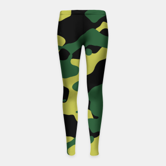 Thumbnail image of Camouflage Vert Leggings de fille, Live Heroes