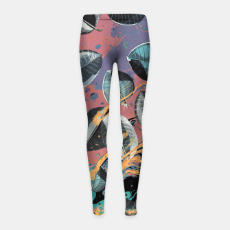 Thumbnail image of Leaves e Colors are pouring... Girl's leggings, Live Heroes