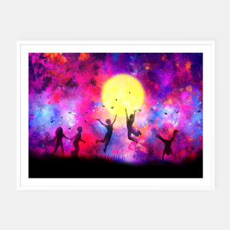 Miniatur Dreamy Night Framed poster, Live Heroes