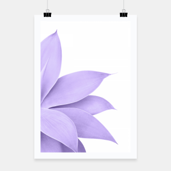 Thumbnail image of Agave Finesse #9 - Ultra Violet on White #tropical #decor #art  Plakat, Live Heroes