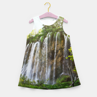 Thumbnail image of veliki prštavac waterfall plitvice lakes national park croatia sun Girl's summer dress, Live Heroes