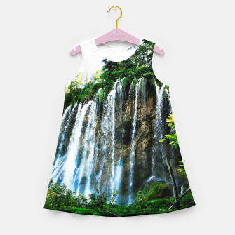 Thumbnail image of veliki prštavac waterfall plitvice lakes national park croatia agfact Girl's summer dress, Live Heroes