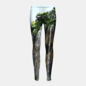 Thumbnail image of veliki prštavac waterfall plitvice lakes national park croatia std Girl's leggings, Live Heroes