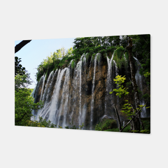 Thumbnail image of veliki prštavac waterfall plitvice lakes national park croatia std Canvas, Live Heroes