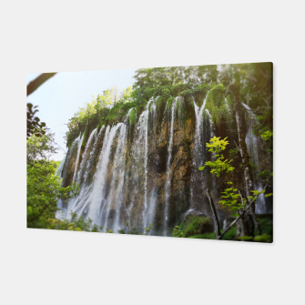Thumbnail image of veliki prštavac waterfall plitvice lakes national park croatia sun Canvas, Live Heroes