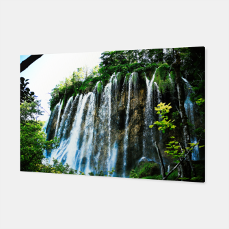Thumbnail image of veliki prštavac waterfall plitvice lakes national park croatia agfact Canvas, Live Heroes