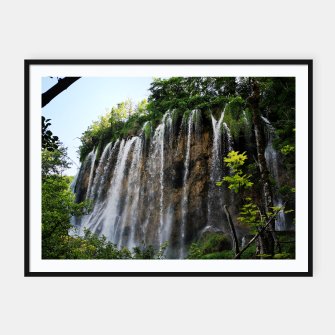 Thumbnail image of veliki prštavac waterfall plitvice lakes national park croatia std Framed poster, Live Heroes