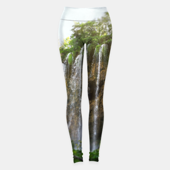 Thumbnail image of veliki prštavac waterfall plitvice lakes national park croatia sun Leggings, Live Heroes