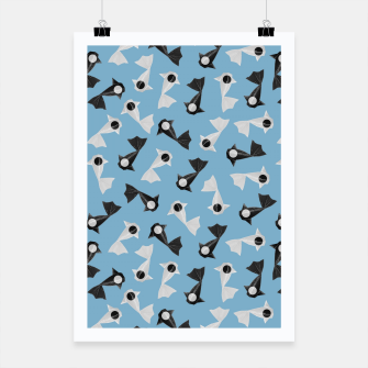 Thumbnail image of Yin and Yang Origami Fish Pattern Plakat, Live Heroes