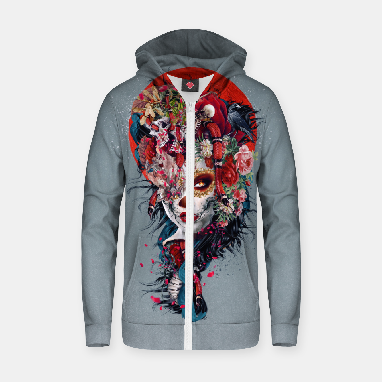 Image of Day of the Dead Zip up hoodie - Live Heroes