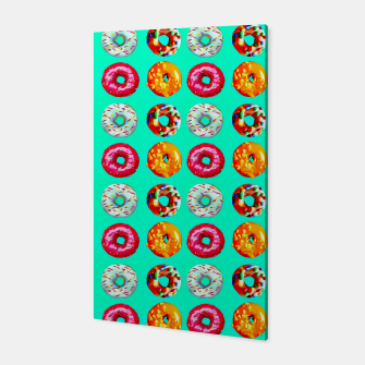 Miniatur Donuts on turquoise Canvas, Live Heroes