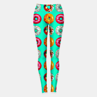 Miniatur Donuts on turquoise Leggings, Live Heroes