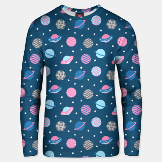 Thumbnail image of Universe & Planets Pattern Unisex sweater, Live Heroes