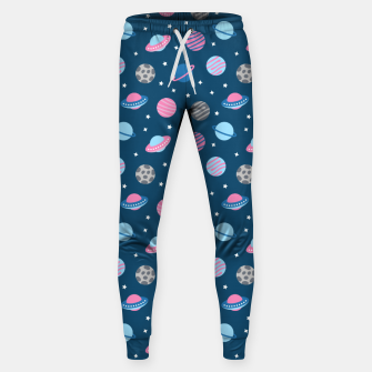 Thumbnail image of Universe & Planets Pattern Sweatpants, Live Heroes