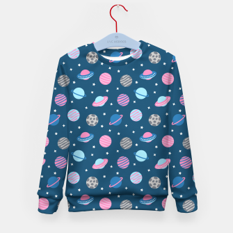 Thumbnail image of Universe & Planets Pattern Kid's sweater, Live Heroes