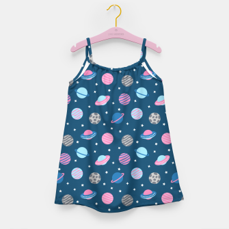 Universe & Planets Pattern Girl's dress thumbnail image