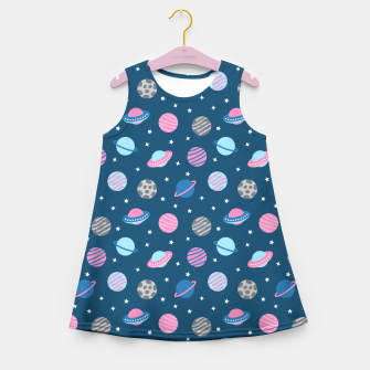 Universe & Planets Pattern Girl's summer dress thumbnail image