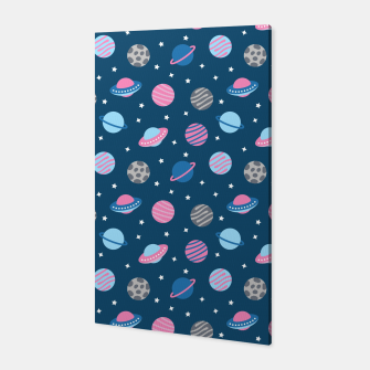 Thumbnail image of Universe & Planets Pattern Canvas, Live Heroes