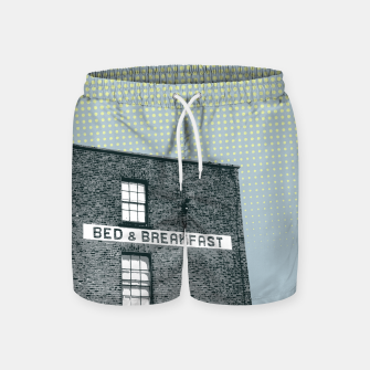 Thumbnail image of Bed & Breakfast Swim Shorts, Live Heroes