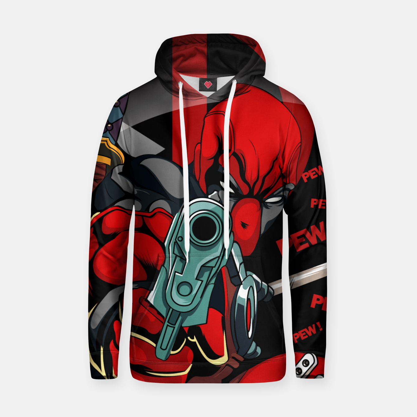 Image of Deadpool Sudadera con capucha - Live Heroes
