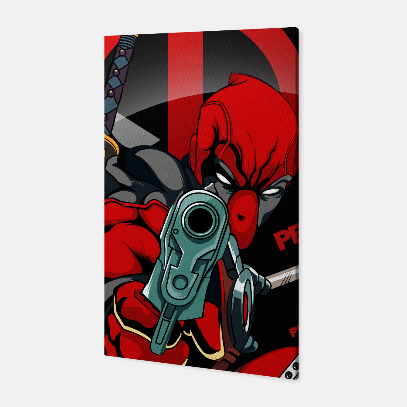 Image of Deadpool Canvas - Live Heroes