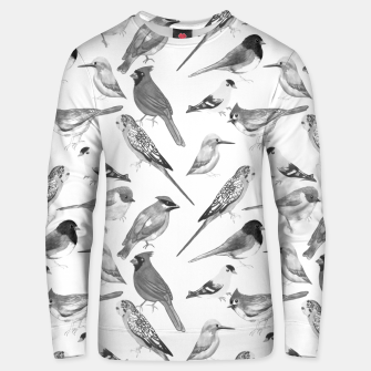 Thumbnail image of Black and white birds  Unisex sweater, Live Heroes