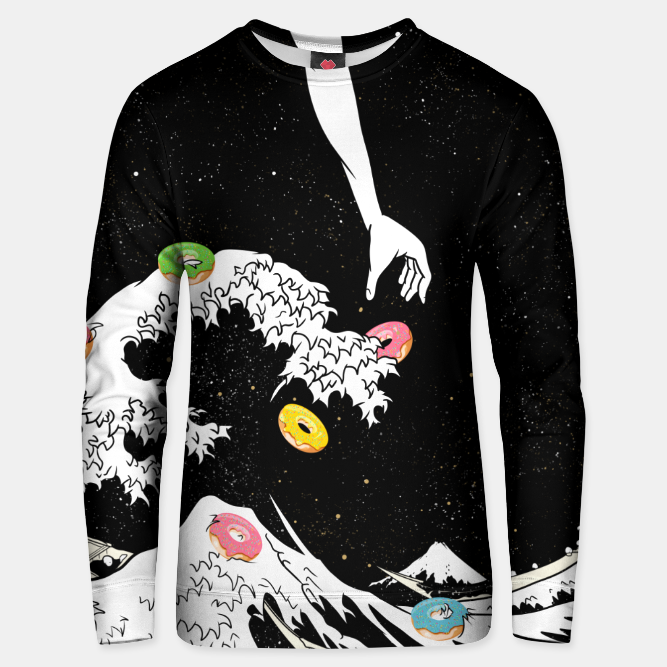 Foto The great wave of doughnuts Unisex sweater - Live Heroes