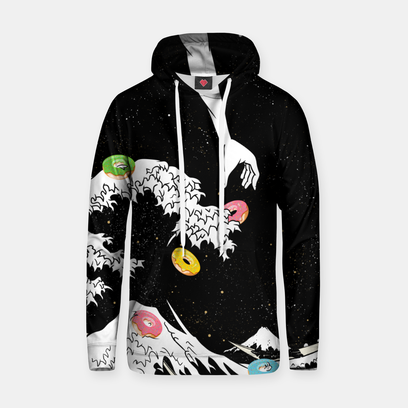 Image of The great wave of doughnuts Hoodie - Live Heroes