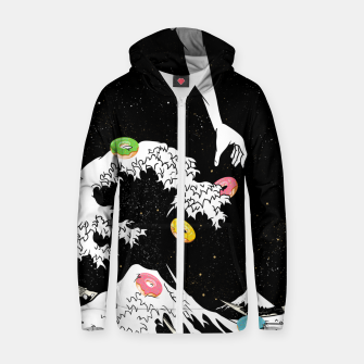 The great wave of doughnuts Zip up hoodie thumbnail image