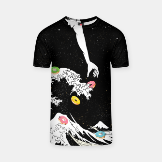 Thumbnail image of The great wave of doughnuts T-shirt, Live Heroes