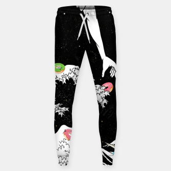 The great wave of doughnuts Sweatpants thumbnail image