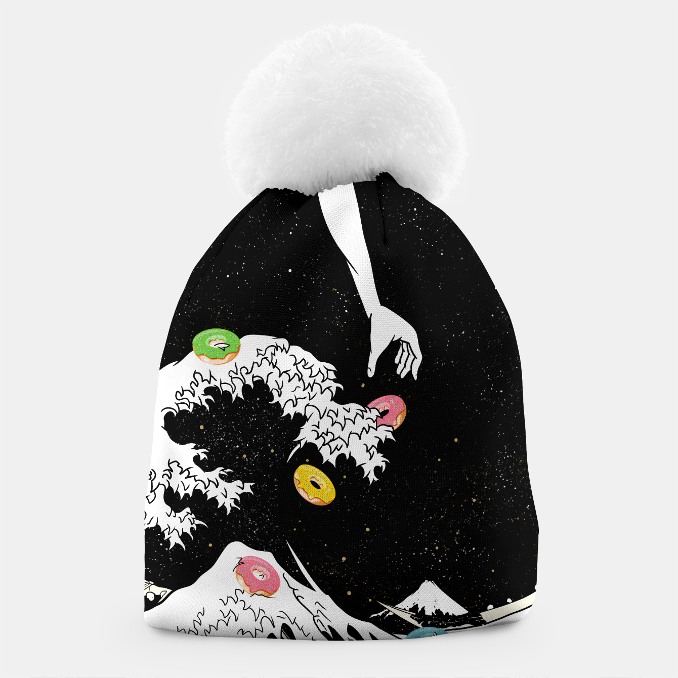 Image of The great wave of doughnuts Beanie - Live Heroes