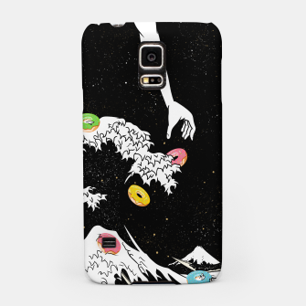 Miniature de image de The great wave of doughnuts Samsung Case, Live Heroes