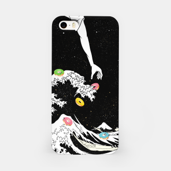 The great wave of doughnuts iPhone Case thumbnail image