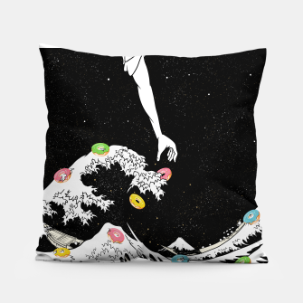 The great wave of doughnuts Pillow thumbnail image