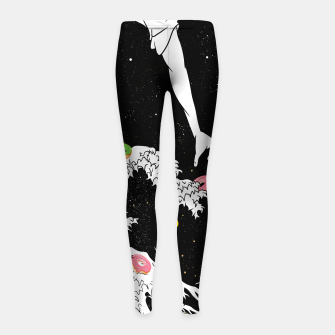 Imagen en miniatura de The great wave of doughnuts Girl's leggings, Live Heroes