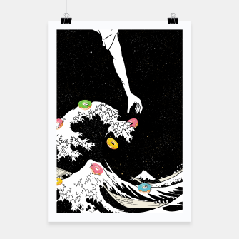 Miniature de image de The great wave of doughnuts Poster, Live Heroes