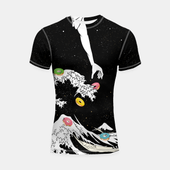 Thumbnail image of The great wave of doughnuts Shortsleeve rashguard, Live Heroes
