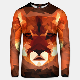 Cougar head, wild animal poly print  Unisex sweater miniature